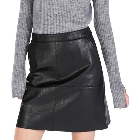 Zara Dresses & Skirts - Zara A Line Faux Leather Skirt.